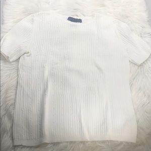 Laura Scott Short Sleeve Sweater M